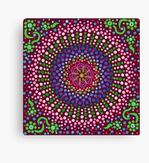 Delicious Singing Petals Mandala Canvas Print