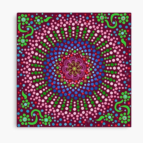 Delicious Singing Petals Mandala Canvas Print