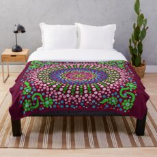 Delicious Singing Petals Mandala Throw Blanket