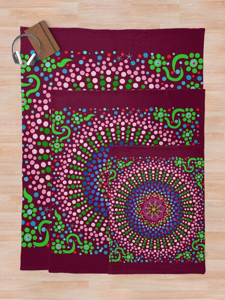 Alternate view of Delicious Singing Petals Mandala Throw Blanket