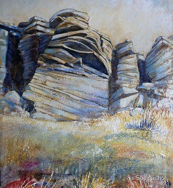 Summer on Stanage Edge by Sue Nichol