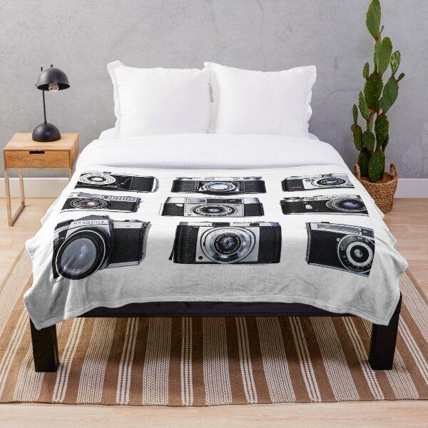 Vintage analog cameras Throw Blanket