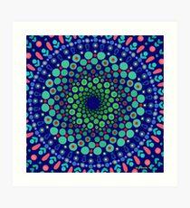Undersea Whirpool Mandala Art Print