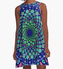 Undersea Whirpool Mandala A-Line Dress
