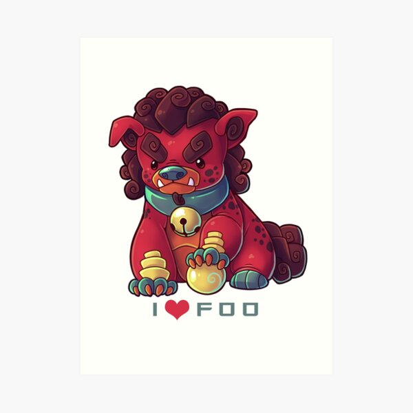 I HEART FOO  Art Print