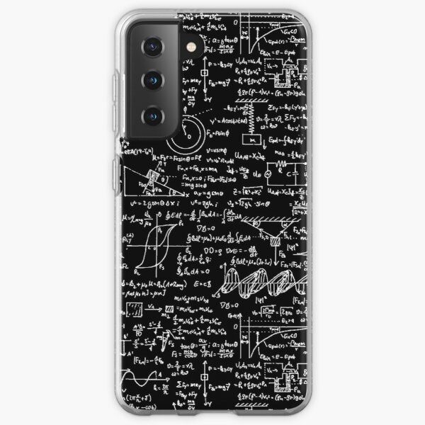 Physics Equations // Black Samsung Galaxy Soft Case