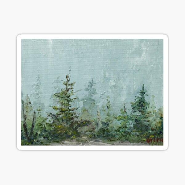 Foggy Morning on Mount Kearsarge Sticker