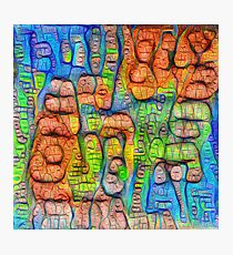 #Deepdreamed abstraction Photographic Print