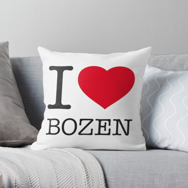 I LOVE BOZEN Throw Pillow
