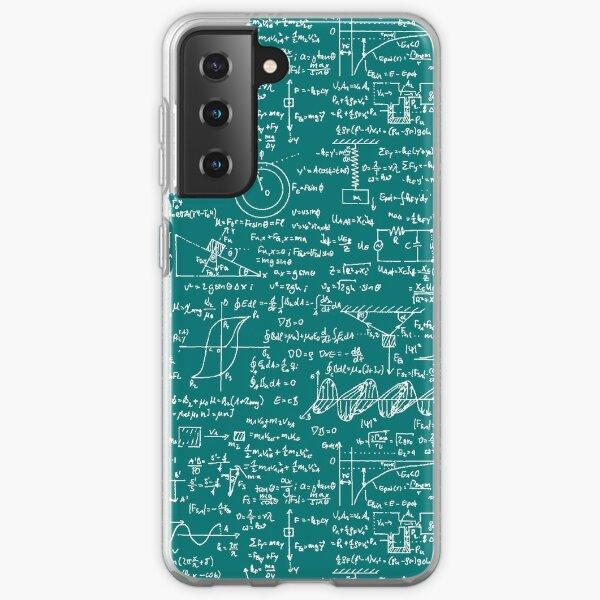 Physics Equations // Teal Samsung Galaxy Soft Case