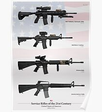 Service Rifles of the United States (21st Century) Poster