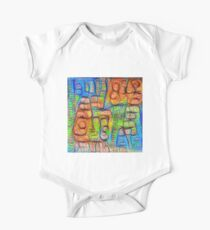 #Deepdreamed abstraction Short Sleeve Baby One-Piece