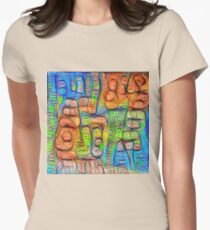 #Deepdreamed abstraction Fitted T-Shirt
