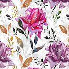 Summer rose pattern by Emma   Reznikova