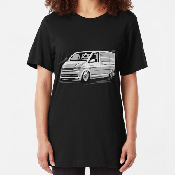 T6 Transporter Bus Caravelle Low Style Vector Slim Fit T-Shirt