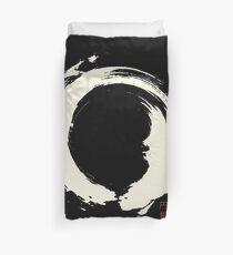 Black Ensō / Japanese Zen Circle Bettbezug