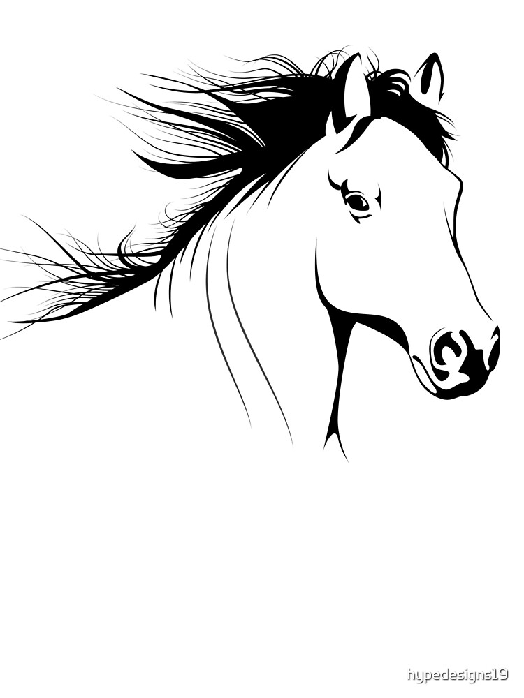 Animal Art Simple Beautiful Horse Design Baby One Piece By Hypedesigns19 Redbubble