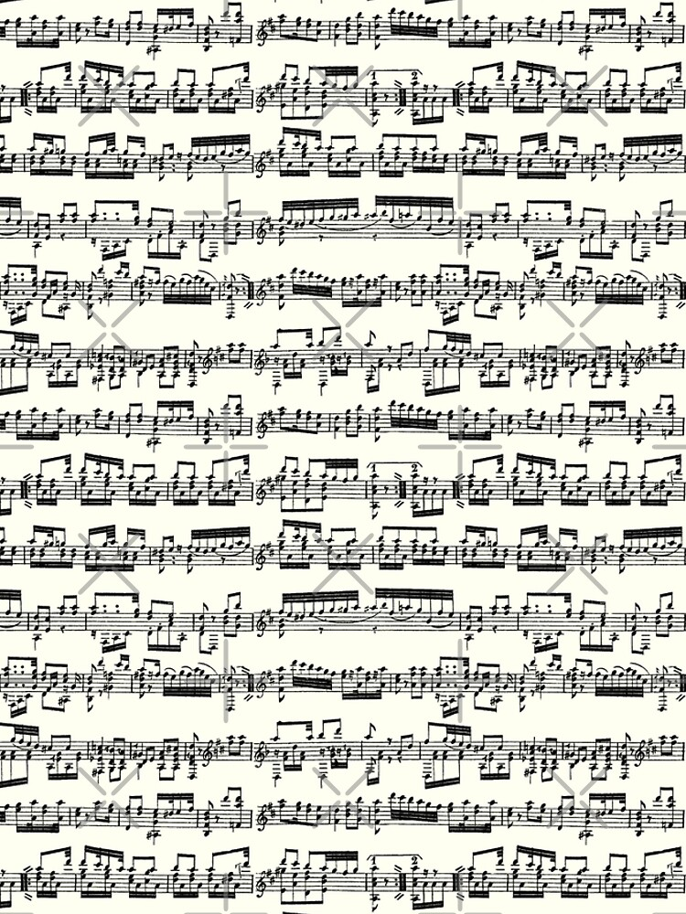 Sheet Music on Ivory by TLTextiles