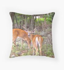 8 Point Two Bodied Buck Throw Pillow