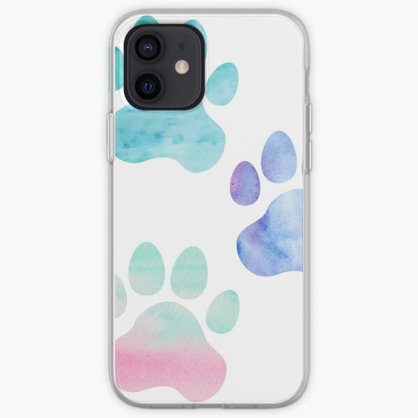 Watercolor Paw Print Trio iPhone Soft Case