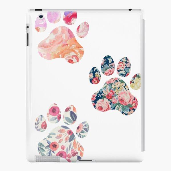 Floral Paw Print Trio iPad Snap Case