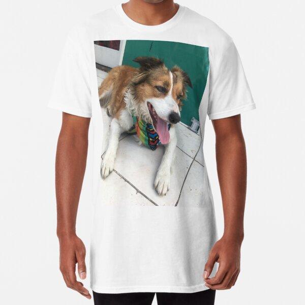 my dog, the model Long T-Shirt