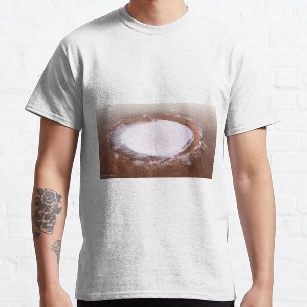 The Martian Mystery: Ice Crater That Never Melts Classic T-Shirt