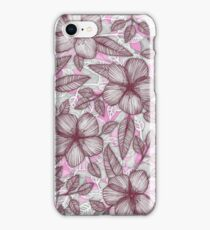 Spring Blossom in Marsala, Pink & Plum iPhone Case/Skin