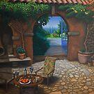 The Secret Courtyard, Amalfi, Italy. by RodneyCleasby