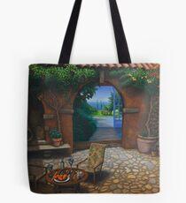 The Secret Courtyard, Amalfi, Italy. Tote Bag