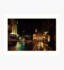 Edinburghs West End at Night Art Print