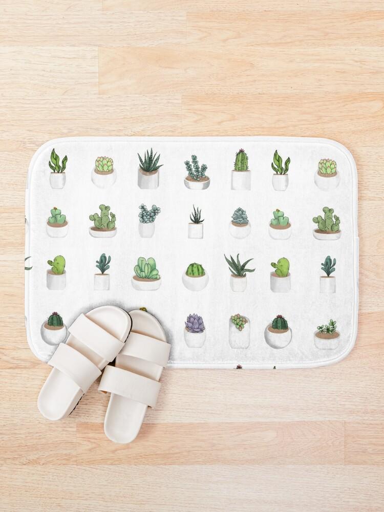 Alternate view of Succulents Bath Mat