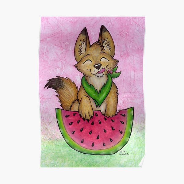 Melon Coyote - A Summertime Treat! Poster