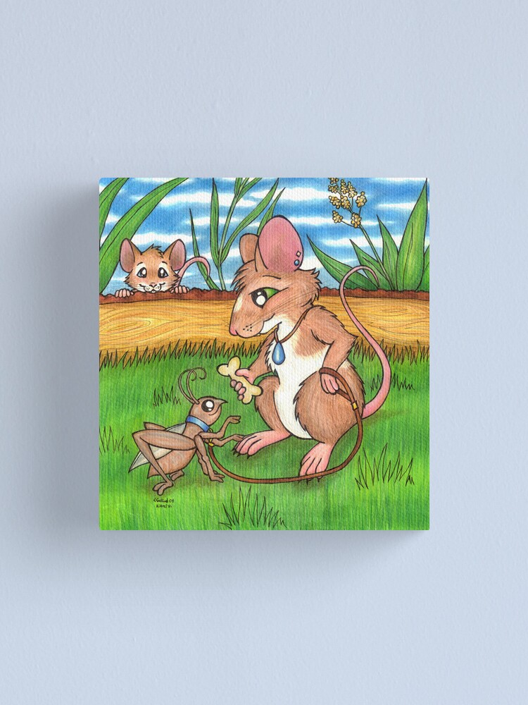 Alternate view of The Cricket Trainer - A Mouse's Pet Canvas Print