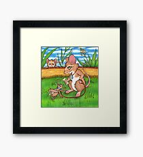The Cricket Trainer - A Mouse's Pet Framed Print