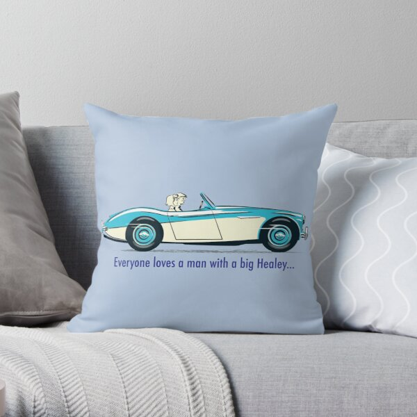 Its official – everyone loves a man with a big Healey! Throw Pillow