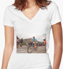 Vincenzo Nibali Women's Fitted V-Neck T-Shirt