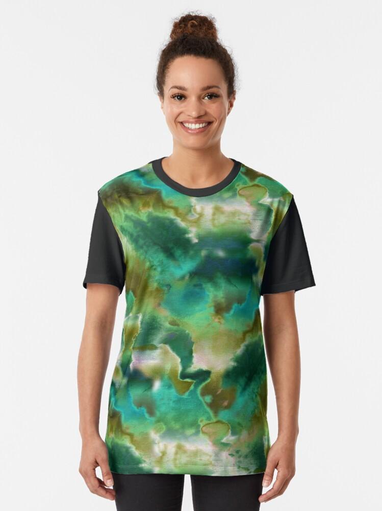 Alternate view of Tie Dye Cammo Graphic T-Shirt