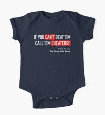 Limited Edition If You Can't beat 'em Call 'em cheaters, Tom Brady, New England Patriots, Tb12 Shirts, Mugs & Hoodies Short Sleeve Baby One-Piece