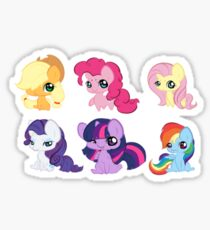 Chibi Mane 6  Sticker