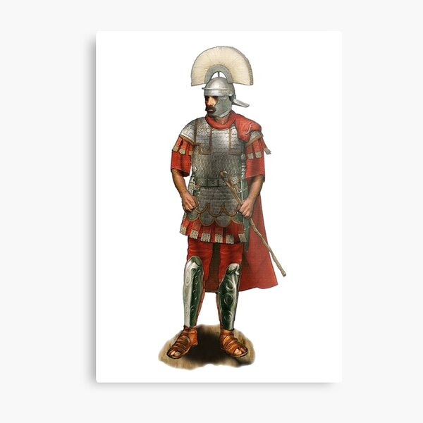 Roman Centurion - White Metal Print