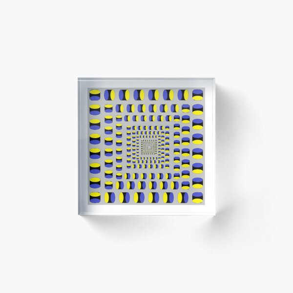 Visual Illusion #VisualIllusion Optical #OpticalIllusion #percept #reality Image Apparent Motion Acrylic Block