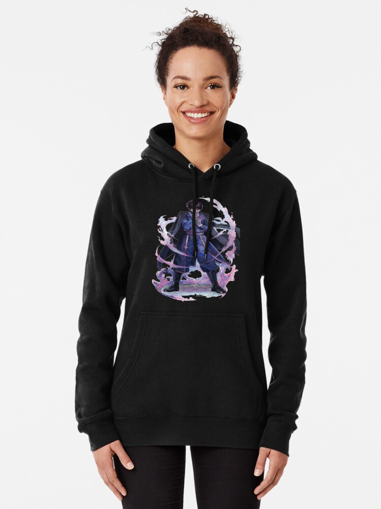 Alternate view of the flame alchemist Roy Mustang Pullover Hoodie