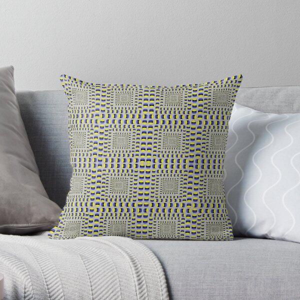 Visual Illusion #VisualIllusion Optical #OpticalIllusion #percept #reality Image Apparent Motion Throw Pillow