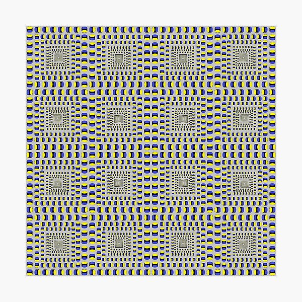 Visual Illusion #VisualIllusion Optical #OpticalIllusion #percept #reality Image Apparent Motion Photographic Print