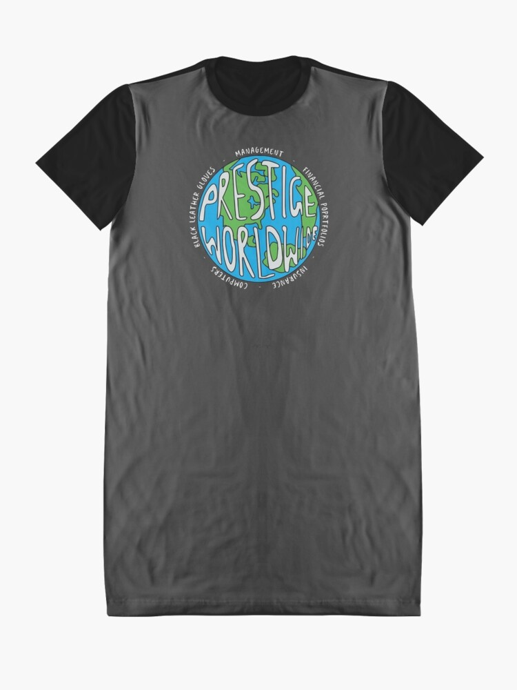 Alternate view of Step Brothers | Prestige Worldwide Enterprise | The First Word In Entertainment | Original Design Graphic T-Shirt Dress