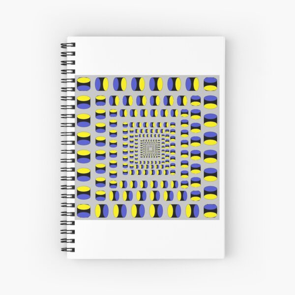 Visual Illusion #VisualIllusion Optical #OpticalIllusion #percept #reality Image Apparent Motion Spiral Notebook