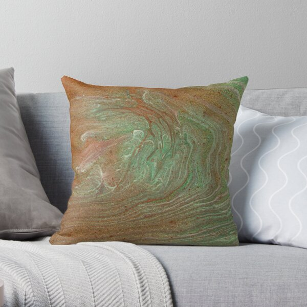 Oxidised Copper Throw Pillow