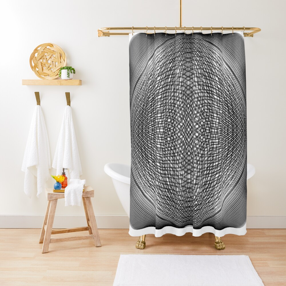 Visual Illusion #VisualIllusion Optical #OpticalIllusion #percept #reality Image Apparent Motion Shower Curtain