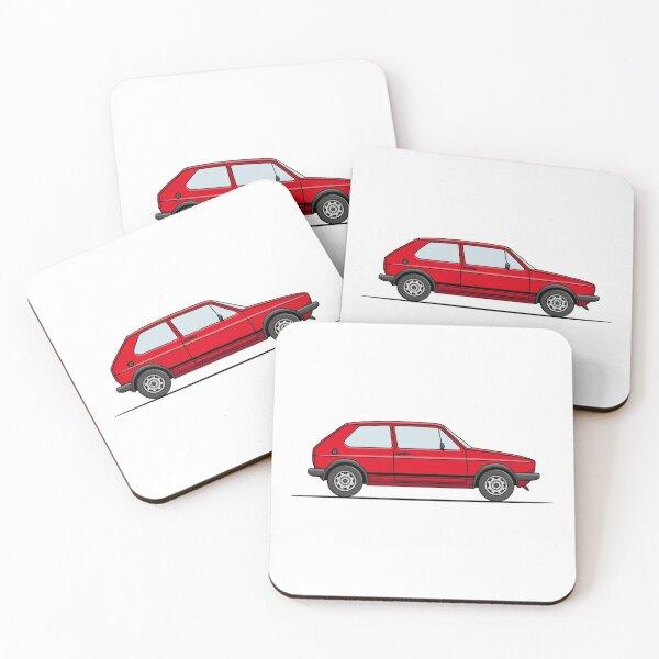 Golf GTI Mk1 - Red Coasters (Set of 4)
